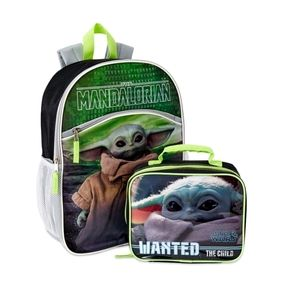 NWT Baby Yoda The Child Backpack With Lunch